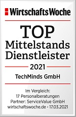WiWo_TOP_Mittelstandsdienstleister2021_TechMinds_GmbH