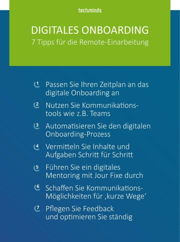 Digitales Onboarding, Remote, 7 Tipps, TechMinds