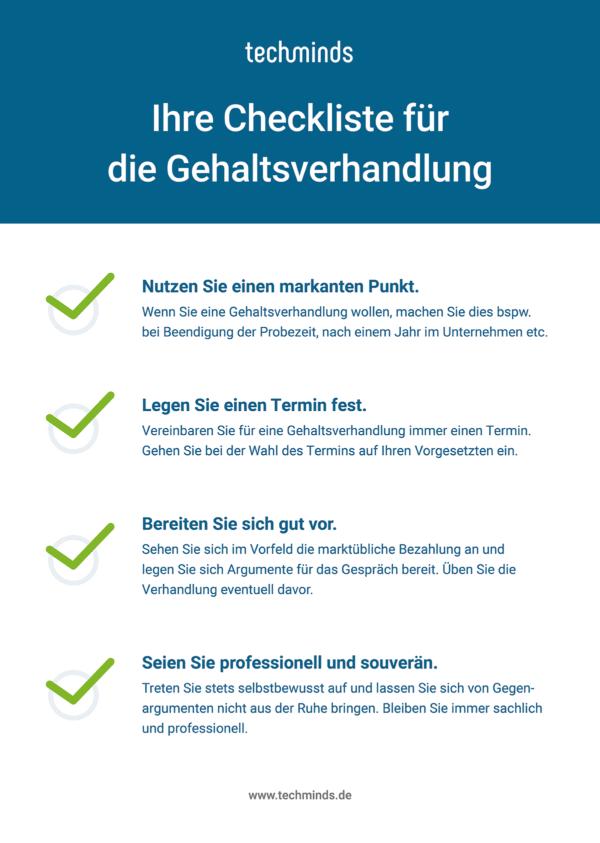 Checkliste für Gehaltsverhandlungen