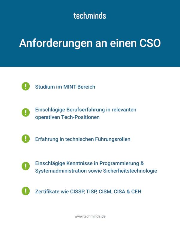 Anforderungen an einen CSO