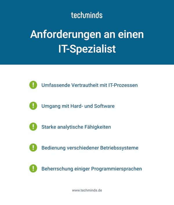 IT-Spezialist Anforderungen
