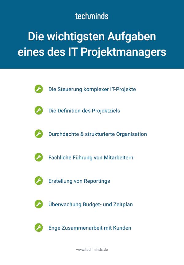 IT Projektmanager Aufgaben