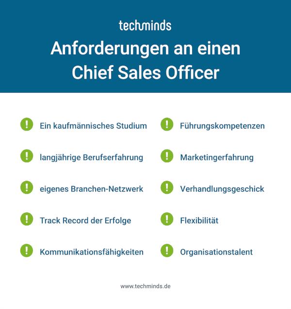 Chief Sales Officer Anforderungen