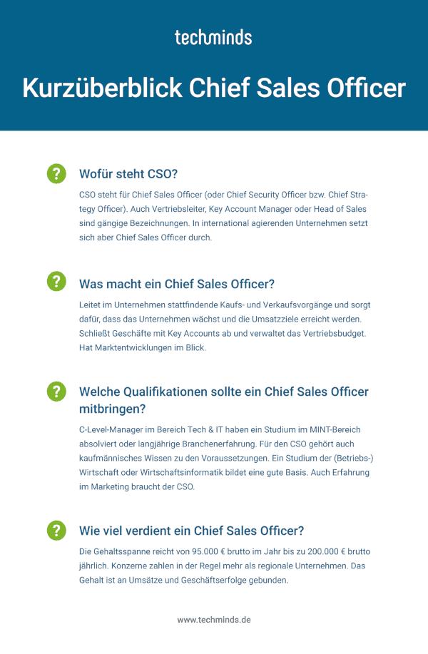 Chief Sales Officer Kurzüberblick