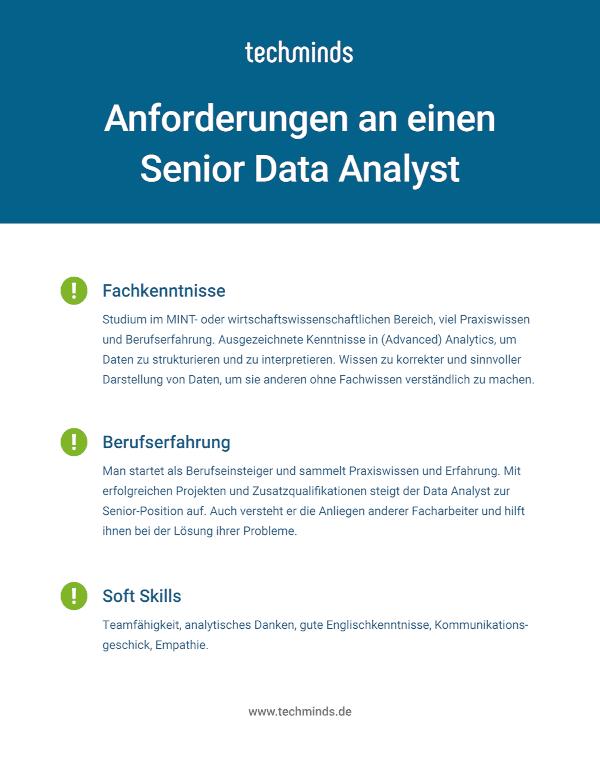 Senior Data Analyst Anforderungen