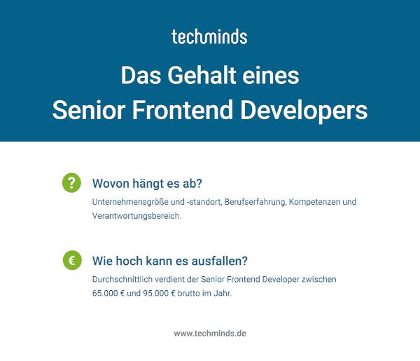 Senior Frontent Developer Gehalt
