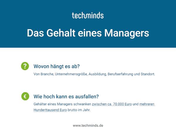 Manager Gehalt